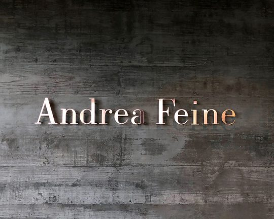 andrea feine (visual identity and commercial signage)