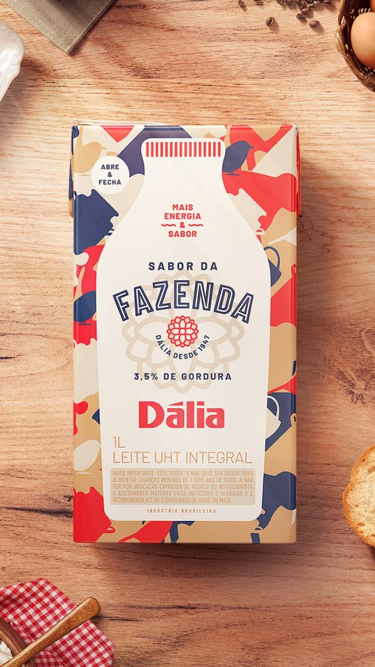 dália sabor da fazenda (visual language and packaging design)
